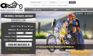 Meet biker women or men on BikerKiss.com