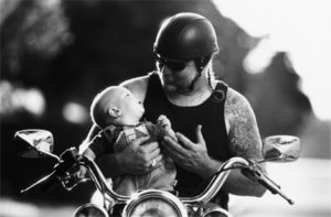 attend evnet bikers for babies and find generous single biker man