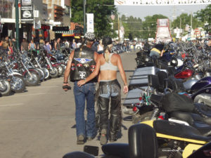 motorcycle enthusiasts in biker rallies